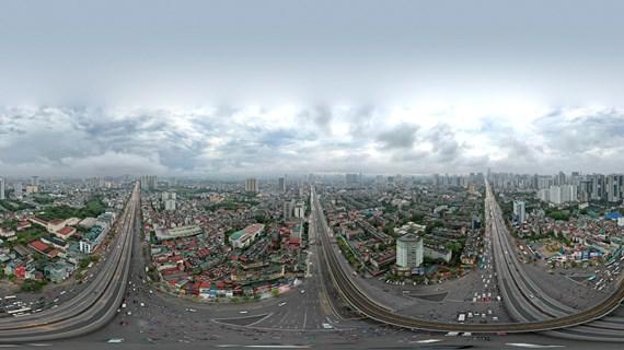 [Hình ảnh 360] Nút giao Nguyễn Trãi - Thanh Xuân ở thành phố Hà Nội