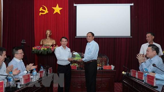 Hình ảnh buổi làm việc của đoàn công tác TTXVN tại tỉnh Bắc Kạn