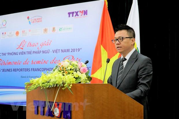 Trao giai thuong Cuoc thi 'Phong vien tre Phap ngu-Viet Nam 2019' hinh anh 1