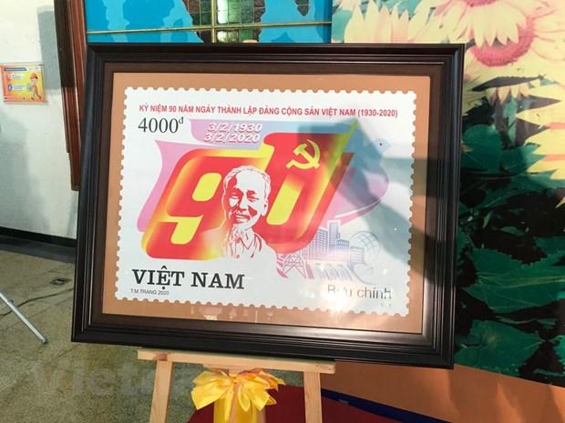 Phat hanh bo tem ''Ky niem 90 nam thanh lap Dang Cong san Viet Nam'' hinh anh 1