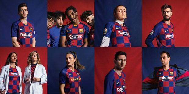 Barcelona ra mat mau ao dau san nha cho mua 2019-2020 hinh anh 1