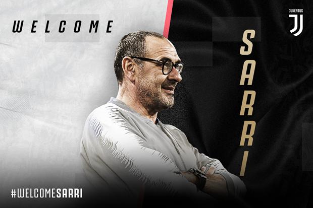 Maurizio Sarri tro thanh tan huan luyen vien truong cua Juventus hinh anh 1
