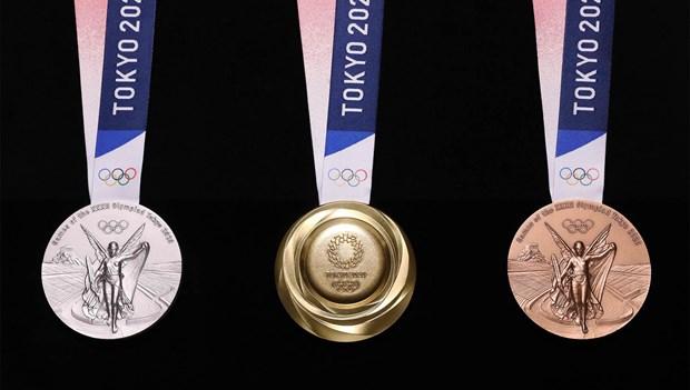 Huy chuong cua Olympic Tokyo 2020 duoc lam tu do dien tu tai che hinh anh 1