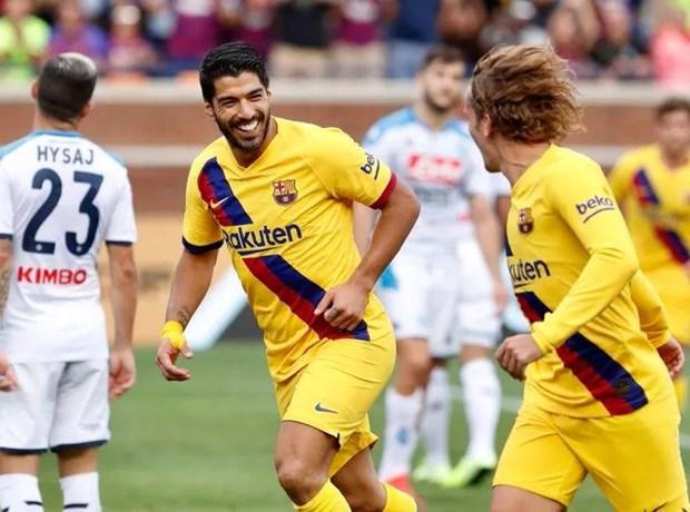 Antoine Griezmann ghi ban dau tien trong mau ao Barcelona hinh anh 1