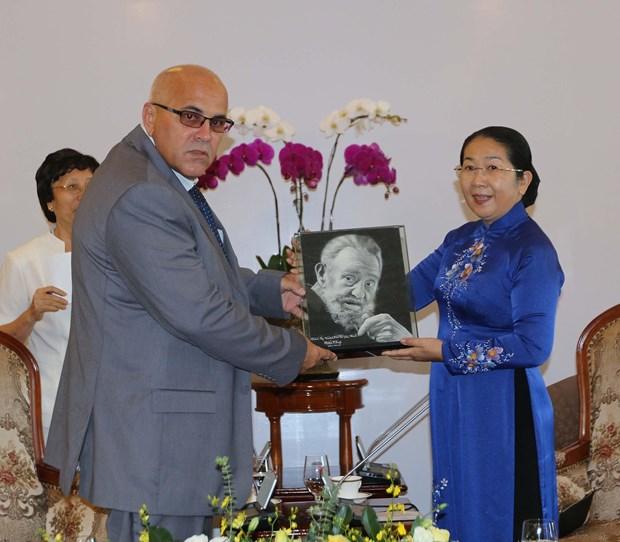 Lanh dao Thanh pho Ho Chi Minh tiep Chu tich Uy ban Cach mang Cuba hinh anh 1