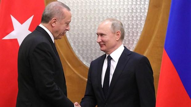 Lanh dao Tho Nhi Ky va Nga dien dam ve tinh hinh Syria hinh anh 1