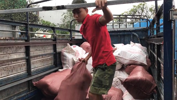 Binh Duong: Phat hien luong lon thit lon ban cat giau trong container hinh anh 1