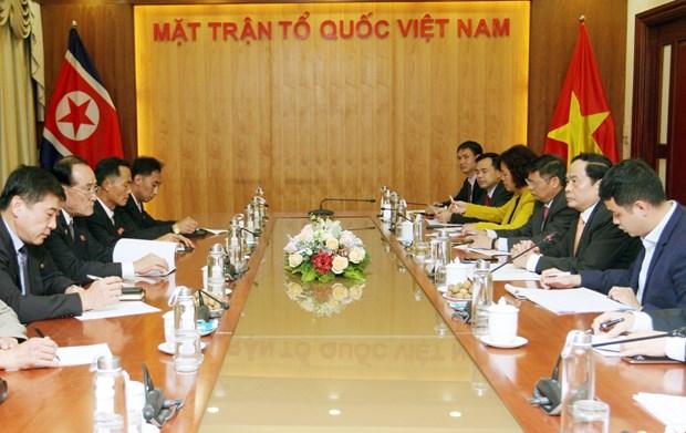 Chu tich Uy ban Trung uong MTTQ tiep doan dai bieu Trieu Tien hinh anh 1