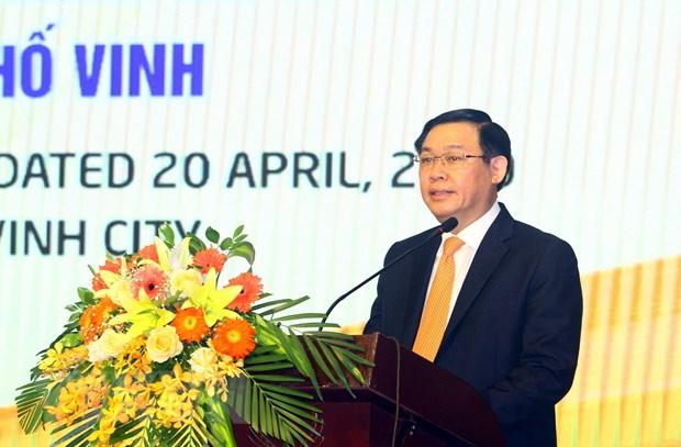 Pho Thu tuong Vuong Dinh Hue du hoi nghi phat trien Thanh pho Vinh hinh anh 1