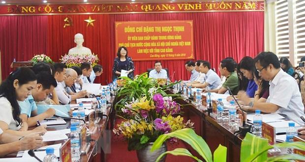 Pho Chu tich nuoc den tham va lam viec tai tinh Cao Bang hinh anh 1