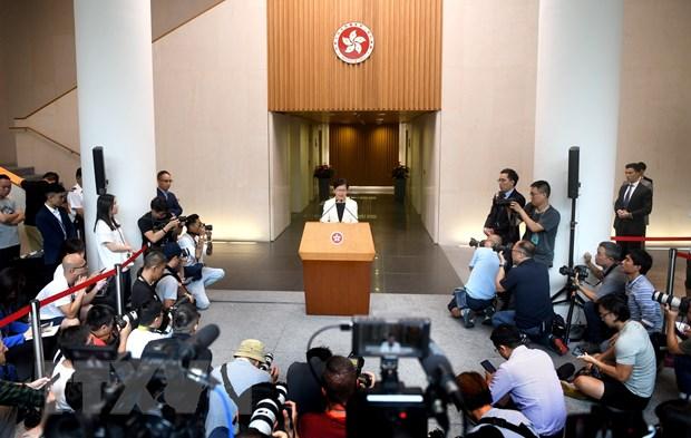 Chinh quyen Hong Kong keu goi giai quyet van de thong qua doi thoai hinh anh 1