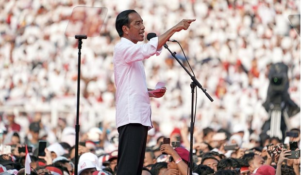 Indonesia tang cuong an ninh de bao ve le nham chuc tong thong hinh anh 1