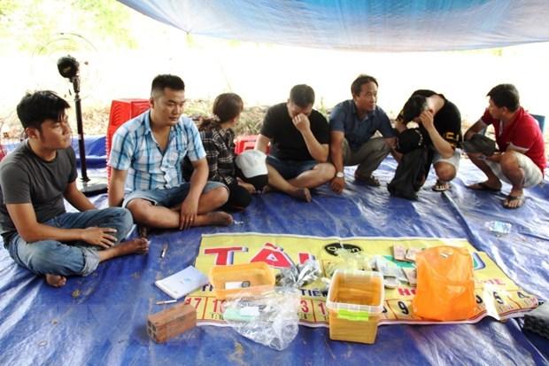 Tay Ninh: Triet pha tu diem danh bac giua rung cao su hinh anh 1