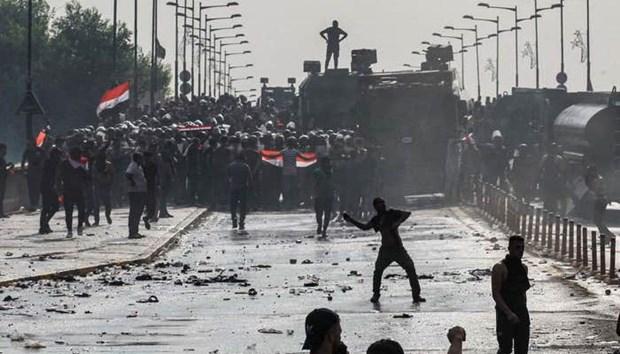 Iraq: Bieu tinh tai thanh pho cang khien hang tram nguoi bi thuong hinh anh 1