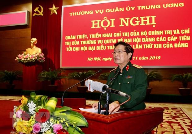Thuong vu Quan uy Trung uong quan triet ve Dai hoi Dang cac cap hinh anh 2