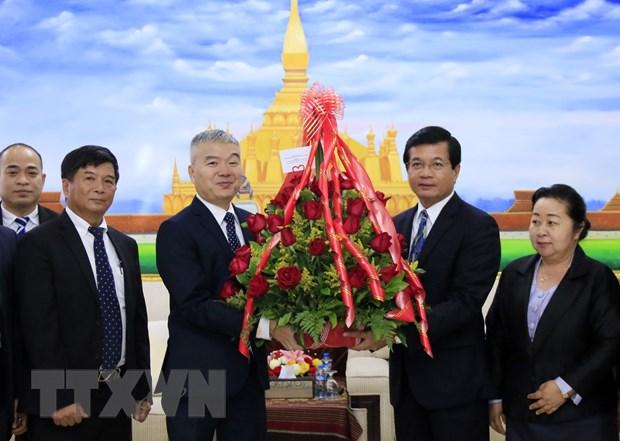 Doan Viet Nam chuc mung 44 nam Quoc khanh CHDCND Lao hinh anh 1