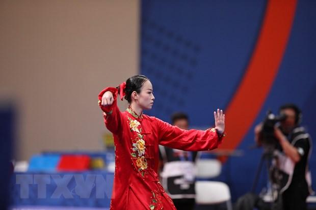 SEA Games 30: Tran Thi Minh Huyen nhan Huy chuong Bac trong tiec nuoi hinh anh 1