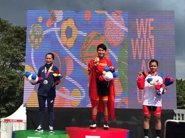 SEA Games 30: Nguyen Thi That doat HCV dua xe dap duong truong hinh anh 1