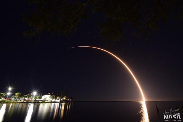 SpaceX phong cung mot luc 60 ve tinh Starlink vao khong gian hinh anh 1