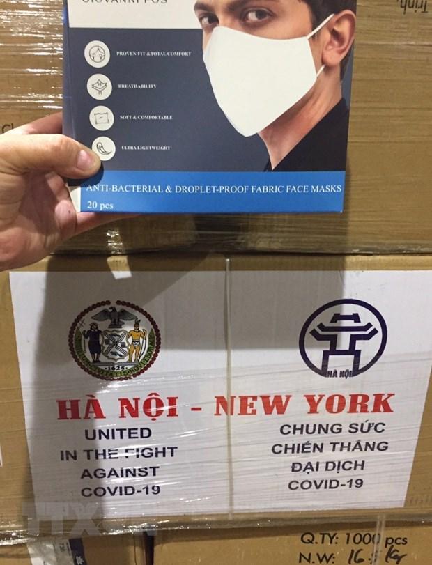 Ha Noi trao tang thanh pho New York 2 tan khau trang hinh anh 2