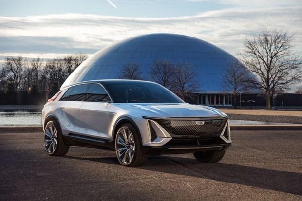 Cadillac 'so gang' Tesla voi mau crossover chay hoan toan bang dien hinh anh 1