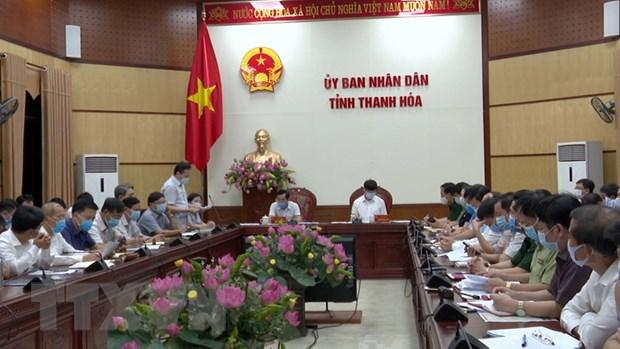 Thanh Hoa hop khan trong dem ve cong tac phong chong COVID-19 hinh anh 1