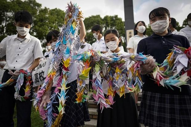 Nhat Ban: Nagasaki to chuc le tuong niem 75 nam My nem bom nguyen tu hinh anh 1
