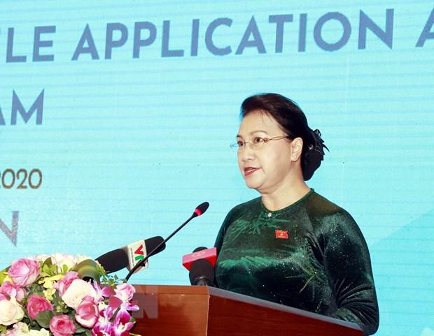 Chu tich Quoc hoi du Le cong bo bo nhan dien Nam Chu tich AIPA 2020 hinh anh 2