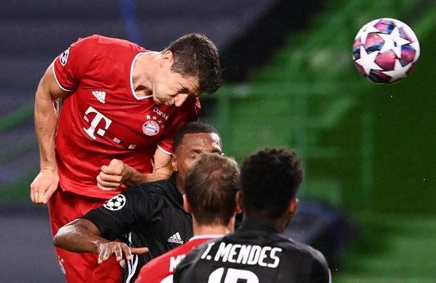 Thang Lyon, Bayern Munich lap nhieu ky luc moi o Champions League hinh anh 1