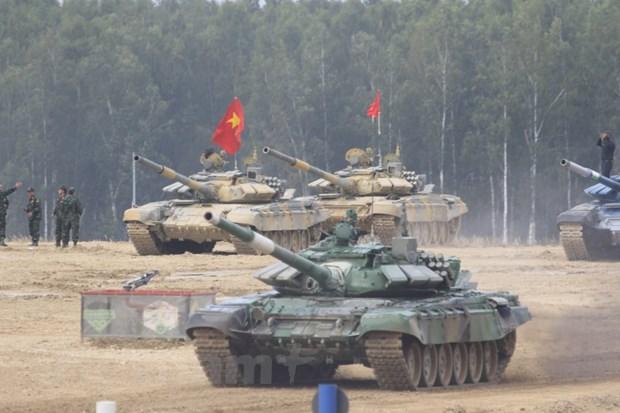 Doi tuyen xe tang Viet Nam lap cong lon tai Army Games 2020 hinh anh 1