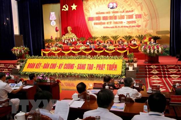 Dong chi To Lam tham du va chi dao Dai hoi Dang bo tinh Ca Mau lan XVI hinh anh 1