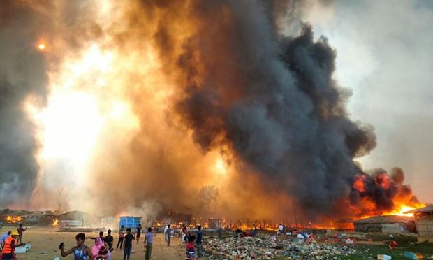 Bangladesh: Chay lon khien hang van nguoi ti nan Rohingya phai so tan hinh anh 1