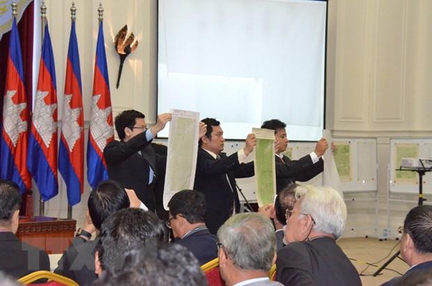 Thu tuong Campuchia thach thuc CNRP ve van de ban do bien gioi hinh anh 1