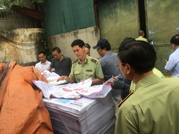 Ha Noi: Xu phat don vi in tai lieu khong co cac quan dao cua Viet Nam hinh anh 1