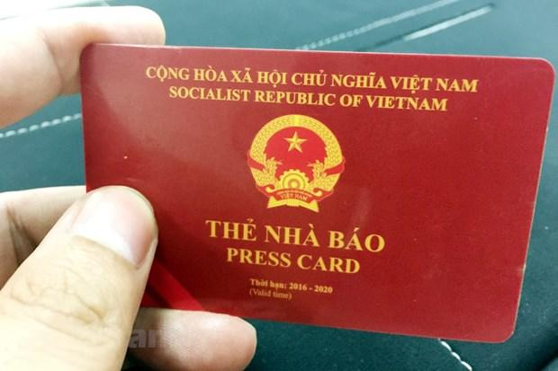 Bo Thong tin va Truyen thong cong bo mau the nha bao ky han 2021-2025 hinh anh 1