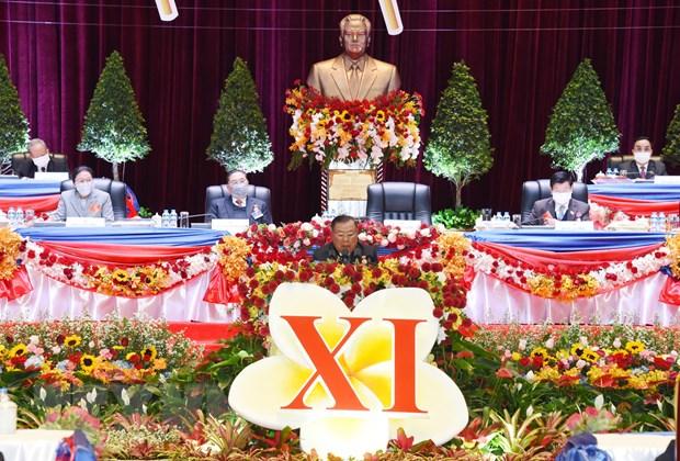 Khai mac Dai hoi toan quoc Dang Nhan dan Cach mang Lao lan thu XI hinh anh 1