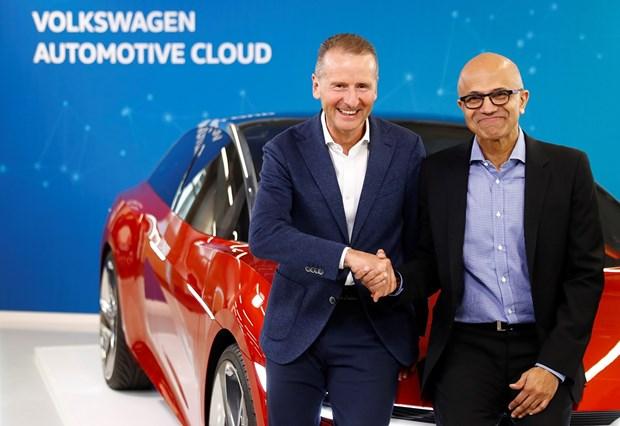 Volkswagen dau tu 27 ty USD cung Microsoft phat trien xe tu hanh hinh anh 1