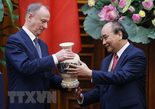 Thu tuong Nguyen Xuan Phuc tiep Thu ky Hoi dong An ninh quoc gia Nga hinh anh 2