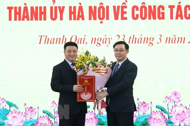 Bi thu Ha Noi: Thanh Oai can tao nen tang de som phat trien thanh quan hinh anh 2