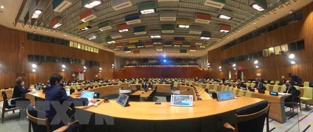 Toàn cảnh phiên họp của Hội đồng Bảo an Liên hợp quốc dưới sự chủ trì của Việt Nam. Ảnh: Khắc Hiếu /TTXVN