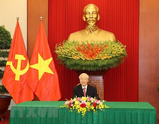 Tong Bi thu Nguyen Phu Trong dien dam voi Bi thu thu nhat DCS Cuba hinh anh 1