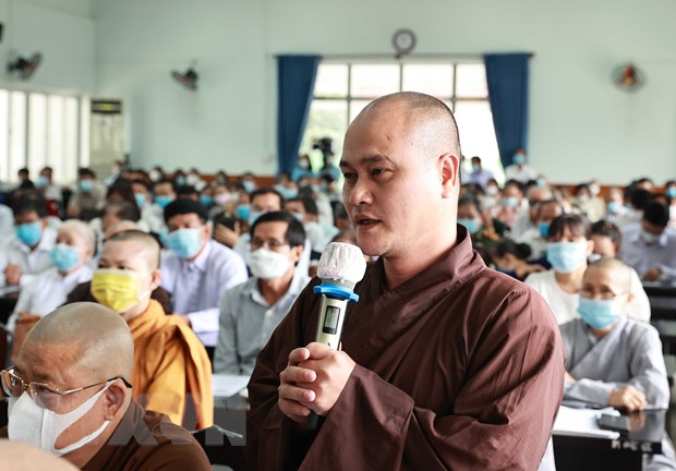Chu tich nuoc Nguyen Xuan Phuc tiep chuc sac ton giao huyen Hoc Mon hinh anh 2