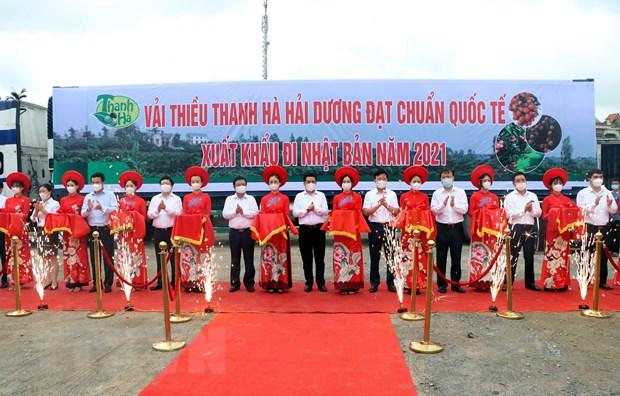 Hai Duong xuat khau nhung tan vai thieu dau tien trong nam 2021 hinh anh 1
