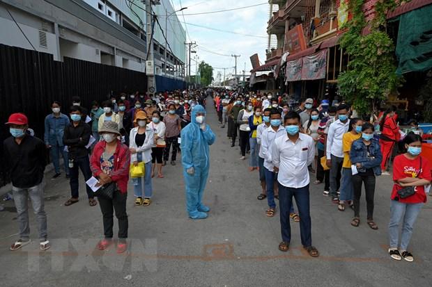 Campuchia: So ca mac moi tang, Phnom Penh xem xet tai lap Khu vuc Do hinh anh 1