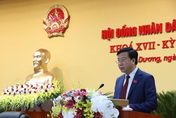 Ong Pham Xuan Thang tai dac cu Chu tich HDND tinh Hai Duong khoa XVII hinh anh 1