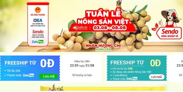 Nhan long Hung Yen tung buoc len san thuong mai dien tu hinh anh 1