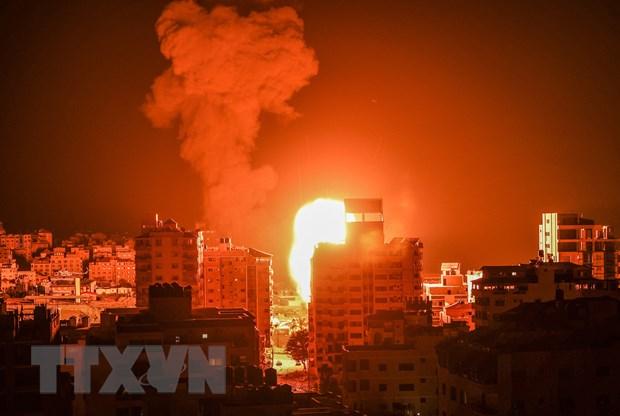 Israel khong kich tra dua cac vu tha bong bay gay chay tu Gaza hinh anh 1
