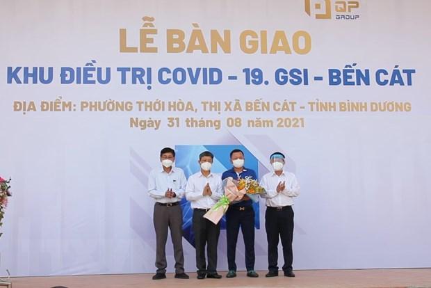 Binh Duong dua vao hoat dong khu dieu tri COVID-19 quy mo 1.400 giuong hinh anh 1