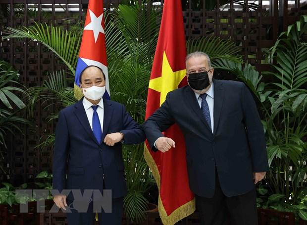 Truyen thong Cuba dua tin dam net ve chuyen tham cua Chu tich nuoc hinh anh 2