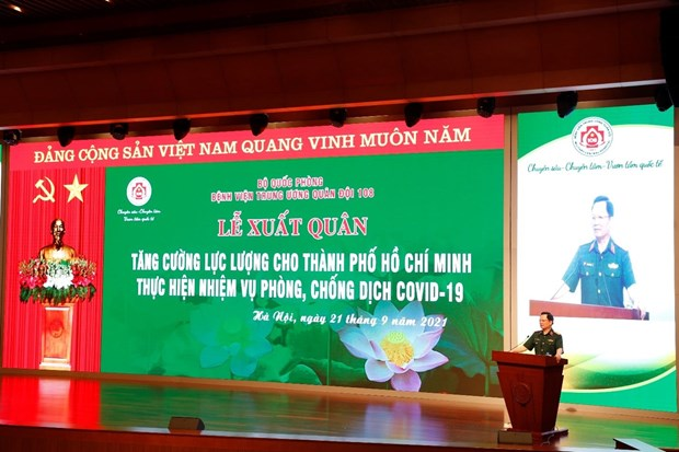 "Benh vien Quan doi 108 ""than toc"" chi vien cho mien Nam chong dich hinh anh 1"